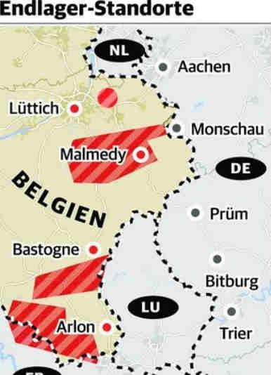 20.05.2020 Atom-Endlager im Grenzgebiet?<br /> Auf den Kampf gegen Tihange folgt der nächste für die Region: Der gegen belgischen Atommüll. Das Land prüft auch Eifel und Herver Land als mögliche Standorte. Resolution verabschiedet.</p> <p>Von Madeleine Gullert</p> <p>Aachen/Brüssel Die Kommunen in der Region wehren sich gegen ein belgisches Atommüll-Endlager im Grenzgebiet. Die Regierung im Nachbarland lässt von der zuständigen Behörde Ondraf derzeit potenzielle Standorte prüfen. Einer liegt in der Eifel, Stavelot bei Malmedy – Luftlinie nur 20 Kilometer von Monschau entfernt. Auch die Kleinstadt Herve gilt als Kandidat und liegt ebenfalls nur 20 Kilometer Luftlinie von Aachen entfernt. 'Aus Aachen kann in dieser Frage nur ein klares Nein kommen', sagte Aachens Oberbürgermeister Marcel Philipp (CDU), der sich an die Debatte um das umstrittene belgische AKW Tihange erinnert fühlt.</p> <p>Am Dienstag verabschiedete die belgische Eifelgemeinde Bütgenbach als erste Kommune eine Resolution. Darin wird die zuständige Föderalregierung aufgefordert, alle Unterlagen zu dem Verfahren offenzulegen und die Eifel aus den Überlegungen auszunehmen, wie Bütgenbachs Bürgermeister Daniel Franzen erklärte. Die anderen belgischen und auch die deutschen Eifelkommunen wollen sich der Resolution anschließen, sagte Margareta Ritter (CDU). 'Ich empfinde die Planung als höchst beunruhigend', sagte die Monschauer Bürgermeisterin stellvertretend für die anderen Eifelkommunen. 'Wir haben im Kampf gegen Tihange mit einer Stimme gesprochen. Das sollten wir jetzt beibehalten.' Man werde Transparenz von Belgien einfordern, sagte Städteregionsrat Tim Grüttemeier (CDU): 'Es kann nicht angehen, dass die Menschen in unserer Region erneut vor vollendete Tatsachen gestellt werden.'</p> <p>Stefan Kämmerling (SPD), Landtagsabgeordneter aus Eschweiler, und Oliver Krischer (Grüne), Bundestagsabgeordneter aus Düren, sehen die NRW-Landesregierung und die Bundesregierung in der Pflicht, sich für einen Stopp des