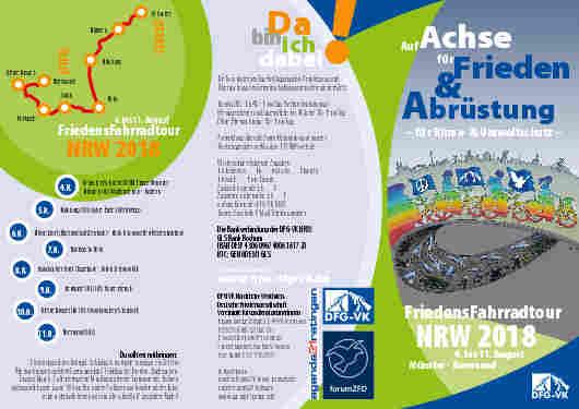 FriedensFahrradtour NRW 2018 4.-11. August