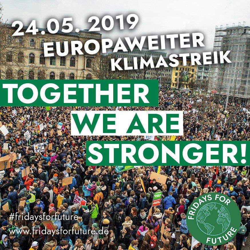Fridays For Future Germany - @FridayForFuture:<br /> Am 24. Mai ist europaweiter #FridaysForFuture #Klimastreik.<br /> Bist du dabei?