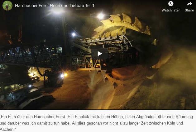 """Hambacher Forst Hoch und Tiefbau, Teil 1<br /> """"Ein Film über den Hambacher Forst. Ein Einblick mit luftigen Höhen, tiefen Abgründen, über eine Räumung und darüber was ich damit zu tun habe. All dies geschah vor nicht allzu langer Zeit zwischen Köln und Aachen..."""""""